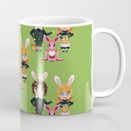 Children with basket of Easter eggs Coffee Mug