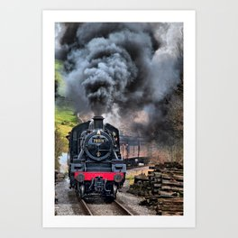 78019 Steam Train Art Print
