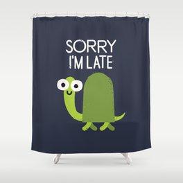 Tardy Animal Shower Curtain