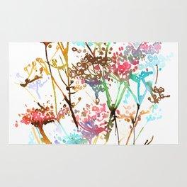 Queen Anne Lace Wild Flower Print Rug