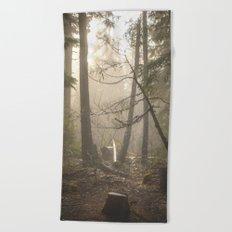 Sunrise Forest Adventure Beach Towel
