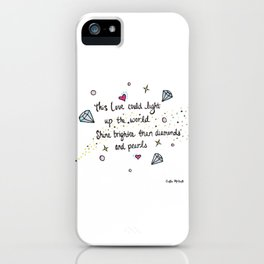 Love Watercolor Lyric Drawing iPhone Case