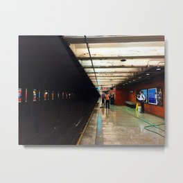 Platform at night Metal Print