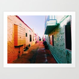 Colorful Capitola Art Print