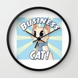 Business Cat! Wall Clock