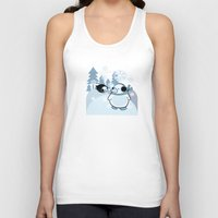 penguins Tank Tops featuring penguins by Caracheng