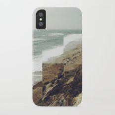 Walks on the beach iPhone X Slim Case
