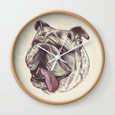 Bulldog King Wall Clock