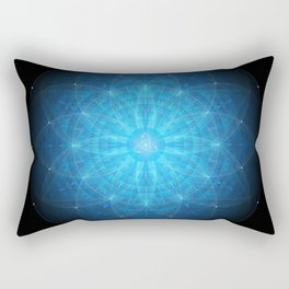 crystal mind. sacred geometry mandala Rectangular Pillow