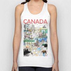 Canada (portrait version) Unisex Tank Top