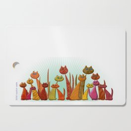 The Vector Cats Cutting Board