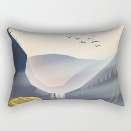 Go Hiking - Visit mother Nature's Wilderness. Rectangular Pillow