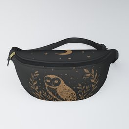 Owl Moon - Gold Fanny Pack