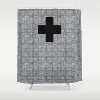 cross Shower Curtains featuring Cross by SuzanneCarter