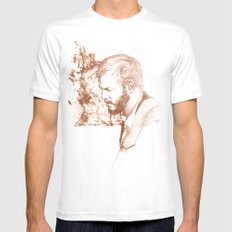 Bon Iver (Justin Vernon) Mens Fitted Tee White LARGE