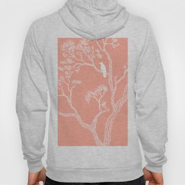 Crow in a tree peach color Hoody