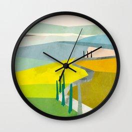 Tuscany italy landscape abstract art Wall Clock