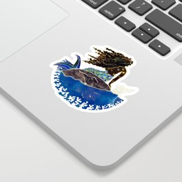 Lady of the Atlantic Crossing Sticker