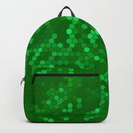Green Vintage Needlepoint Farmhouse Shabby Chic Print Backpack