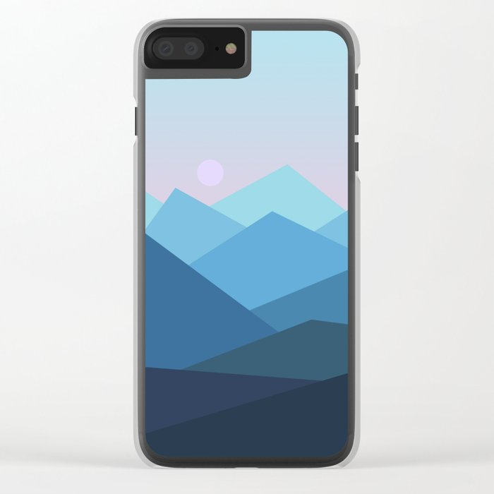 Landscape NC 01 Clear iPhone Case