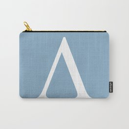 Greek letter lambda sign on placid blue background Carry-All Pouch