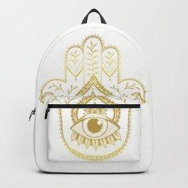 Hamsa Hand - Gold Backpack