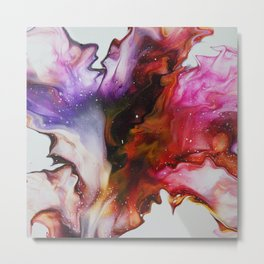 Fluid Acrylic Flower Metal Print