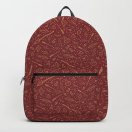Yer a Wizard - Red + Gold Backpack