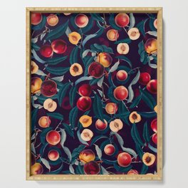 Nectarine and Leaf pattern Serving Tray