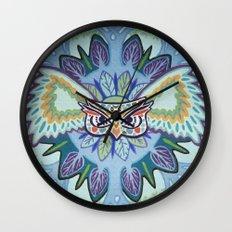 Angry Owl Wall Clock