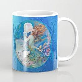 Sensual Art Deco Pearl Mermaid Coffee Mug