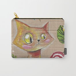 Suspicious Yellow Cat Carry-All Pouch