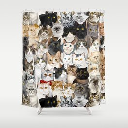 Catmina 2017- TWO Shower Curtain