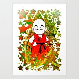 Krillin Art Print