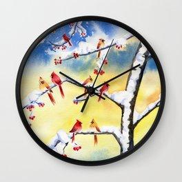 Winter Song 2 Wall Clock