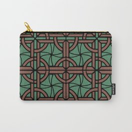 Stained Glass - Green and Red Carry-All Pouch