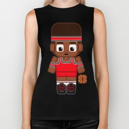 Basketball Red and Black Biker Tank