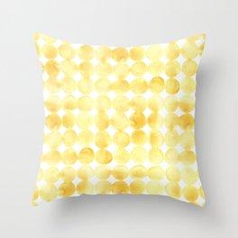 Imperfect Geometry Yellow Circles Throw Pillow
