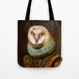 Animals - Funny Owl Painting Tote Bag
