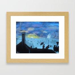 london view Framed Art Print