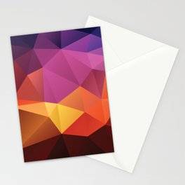 Abstract geometric triangle background Stationery Cards