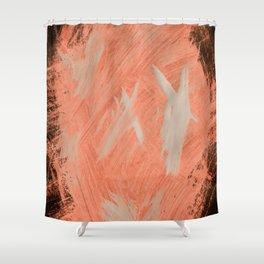 Kaws cross, Abstract, Orange Flamengo Shower Curtain