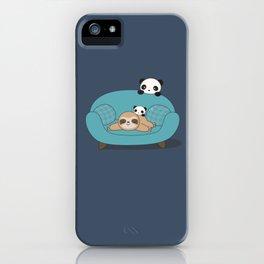Kawaii Panda and Sloth iPhone Case