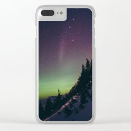 Deer Mountain Northern Lights Clear iPhone Case