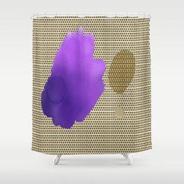 purple brown Shower Curtain