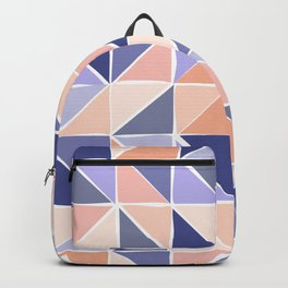 Triangle Geometry in Purple and Coral Backpack