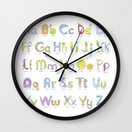 Zoopha Alphabet Beasties Aa-Zz Wall Clock