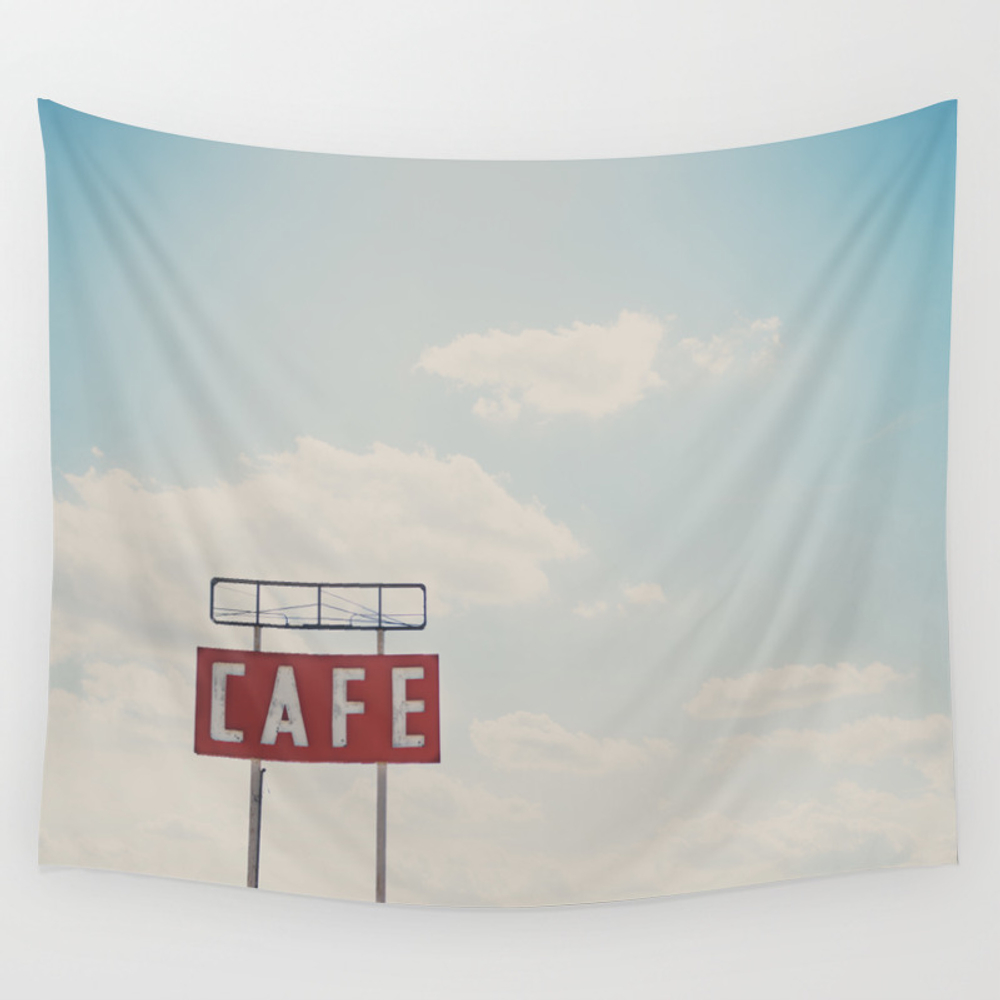 A Cafe Along Route 66 ... Wall Tapestry by Oohprettyshiny TPS7540105
