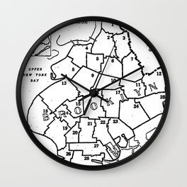 Brooklyn Vintage Map 1957 Wall Clock