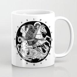 SIC SEMPER DRACONIS - B&W Coffee Mug